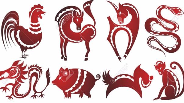 signos del zodíaco chino.
